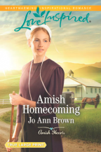 Cover for Amish Homecoming by Jo Ann Brown. A Love Inspired Romance from Harlequin.