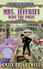 Cover for Mrs. Jeffries Wins the Prize by Emily Brightwell. A Victorian mystery.